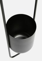 Sixth Floor - Ova hanging planter - black