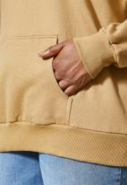 Superbalist - Longline hoodie - brown