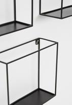 Sixth Floor - Skinny cube shelf set of 3 - black