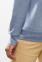 Original Penguin - Long sleeve sticker Pete fleece - heather blue