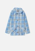 Free by Cotton On - Claudia check jacket - dusk blue check