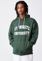 Factorie - Elite oversized hoodie - green