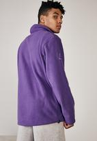 Factorie - Teddy zip thru mountain jacket - purple