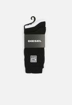 Diesel  - Ray 3 pack socks - black & white