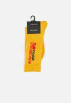 Factorie - License retro rib socks - yellow