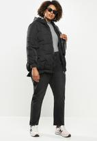 STYLE REPUBLIC PLUS - Hooded puffer - black