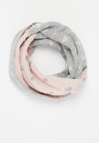 POP CANDY - Girls snood - pink & grey