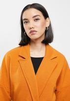 Me&B - Knit melton lounge coat - orange