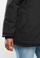 STYLE REPUBLIC PLUS - Hooded parka - black