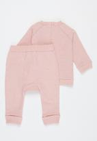 Cotton On - Harley and Tatum tracksuit - pink