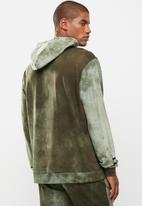 Flyersunion - Spectra-dye fleece printed hoodie - olive