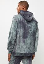 Flyersunion - Spectra-dye fleece printed hoodie - charcoal