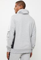 Flyersunion - Fashion snood pullover hoodie - grey