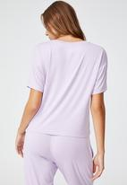 Cotton On - Sleep recovery crew T-shirt - pastel lilac
