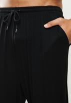 STYLE REPUBLIC - Hem detail sleep pant - black