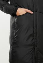 STYLE REPUBLIC - Longline hooded puffer - black