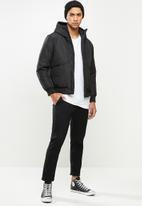 STYLE REPUBLIC - Hooded puffer jacket - black