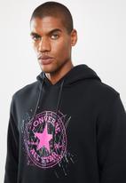 Converse - Splatter paint print pullover hoodie -  black