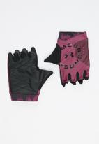 Under Armour - Ua graphic training gloves - pink & black