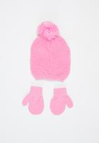 Character Group - Minnie mouse beanie & mittens set - multi