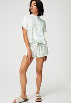 Cotton On - Super soft lounge t-shirt - tie dye mint tonal