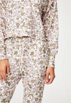 Cotton On - Super soft slim cuff pant - drawn ditzy