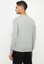 Aca Joe - Aca joe fleece crew neck pullover - grey