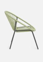 H&S - Stack chair metal green wire