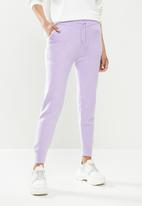 Missguided - Soft touch joggers co ord - lilac