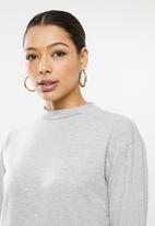 Missguided - Basic 2 pack T-shirt dress - grey & neutral