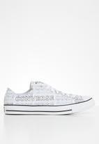 Converse - Chuck taylor all star wordmark graphic ox - white/black/white