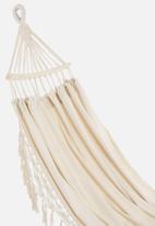 Fine Living - Brazilian lux hammock bed fringe - beige