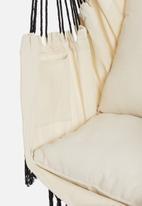 Calasca - Fine living elba hammock chair - white & black