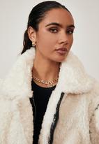 Factorie - Oversized fur teddy jacket - cream