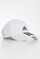 adidas Performance - Baseball three stripes cap white & black