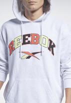 Reebok - Cl bball hoodie sweatshirts - white melange