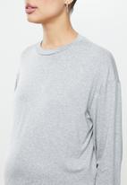 Superbalist - Side slit long sleeve tee - light grey