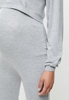 Superbalist - Cuffed tummy band jogger - light grey