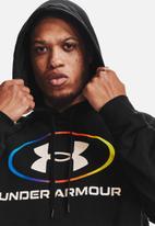 Under Armour - Ua rival fleece lockertag hoodie - black