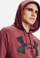 Under Armour - Ua rival fleece big logo hoodie - burgundy