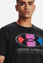 Under Armour - Ua multi colour lockertag short sleeve - black
