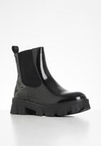 Missguided - Lego sole chelsea boot - black