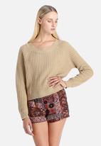Glamorous - Fisherman Knit Cropped Sweater