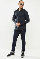 Aca Joe - Aca joe long sleeve shirts - navy