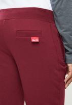 Aca Joe - Aca joe unbrushed 2.a fleece shorts - maroon