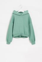 Superbalist - Girls crop hoodie - sage