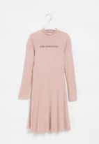 Superbalist - Girls cut n sew skater dress - pink