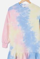 Free by Cotton On - Lani long sleeve dress - multi
