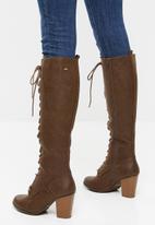Miss Black - Ahlam 6 knee length boot - choc