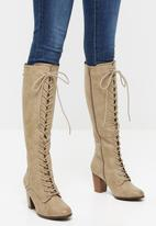 Miss Black - Ahlam 6 knee length boot - nude